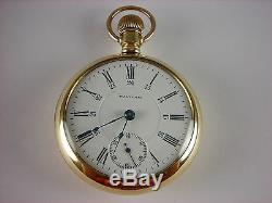 Antique 18s Waltham 17j pocket watch made 1903 for Canadian Railway Time Service