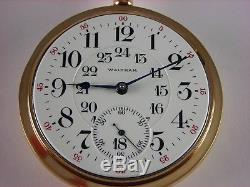 Antique 18s Waltham 845 pocket watch made 1907 for Canadian Railway. 21 rubies