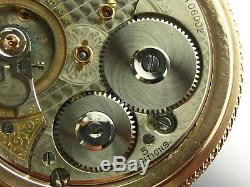 Antique 18s Waltham Vanguard 23 jewel Canadian Rail Road pocket watch. Made 1912