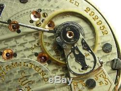 Antique 18s early Hamilton 942 Rail Road pocket watch 1904. High grade 21 jewel
