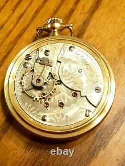 Antique 1900 Hampden Gold Filled 21 JewelsSize 18 Pocket Watch