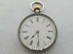 Antique 1900 J. W Benson 38mm Solid Silver Pocket Watch Working VGC Rare