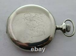 Antique 1901 Elgin Silveroid 16s Full Hunter Pocket Watch Needs Repair Rare