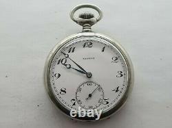 Antique 1901 Zenith Chrome Crown Wind Pocket Watch Working VGC Serviced Rare