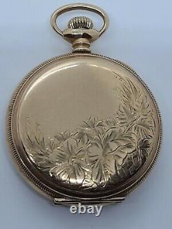 Antique 1902 ELGIN Ladies Gold Filled G. F. Victorian Full Hunter Pocket Watch 6s