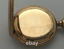 Antique 1902 Hampden Molly Stark 3/0s 7J Pendant Pocket Watch 14k Gold Filled