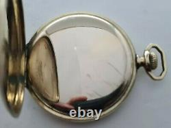 Antique 1903 Thomas Russell and Son Hunter Gold Plated Pocket Watch VGC Rare