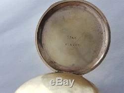 Antique 1903 Waltham Traveller Gold/P Full Hunter Pocket Watch VGC Rare