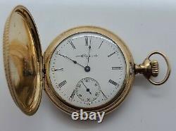 Antique 1904 ELGIN Ladies Gold Filled G. F. Victorian Full Hunter Pocket Watch 6s