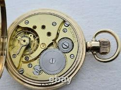 Antique 1905 Nallog 16s, 15j Full Hunter Gold Plated Pocket Watch VGC Box Rare