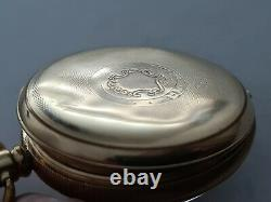 Antique 1905 Swiss Made Gold Plated Pocket Watch 16S, 15 Jewels Working Rare