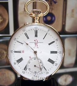 Antique 1905 Vacheron & Constantin Solid Gold Watch & Box Buenos Aires Railway