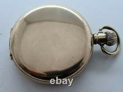 Antique 1905 Waltham 16s Full Hunter Gold Plated Pocket Watch Working VGC Rare