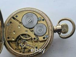 Antique 1905 Waltham Traveler Gold Plated 16s Pocket Watch Not Working Rare