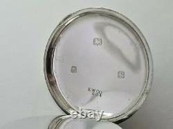 Antique 1906 Duracy Lever USA Solid Silver Pocket Watch Working Box Rare