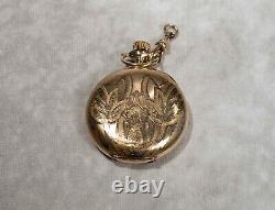 Antique 1907 Lady Waltham 16J Pocket Watch Runs Philadelphia Gold Filled Case