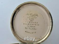 Antique 1908 Thomas Russell & Son 15J Gold Plated Pocket Watch Working Rare
