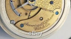 Antique 1908 Waltham / Size 18 / Pocket Watch with Train 166