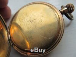Antique 1908 Waltham half hunter pocket watch
