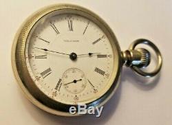 Antique 1909 American Waltham -Size 18 - Sterling Sidewinder - Pocket Watch