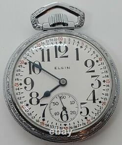 Antique 1912 ELGIN'Father Time' Montgomery Dial 21J Railroad Grade Pocket Watch