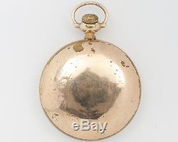 Antique 1912 Illinois 18s 21j Bunn Special Pocket Watch with Ball Model Case