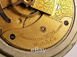 Antique 1913 American Waltham Sterling Grade / Size 18 / Pocket Watch