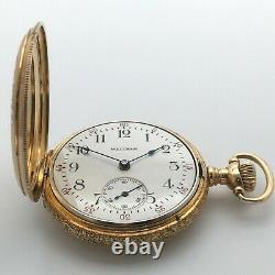 Antique 1914 Waltham 15J Grade 365 Pendant Pocket Watch 3/0s 14k Solid Gold HC