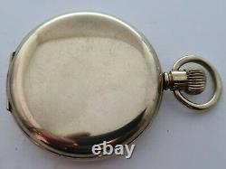 Antique 1915 Elgin USA Full Hunter Gold Plated Pocket Watch Needs Repair Rare