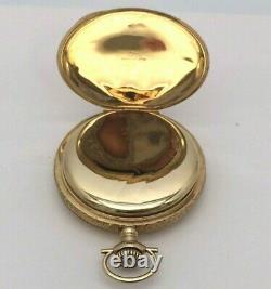 Antique 1920 ILLINOIS Pocket Watch 14k Solid Gold Hunter 17J Size 16s Grade 305