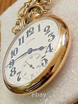 Antique 1920 Illinois SANGAMO Special RR Pocket Watch - 23 Jewels 14kGF
