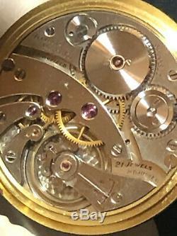 Antique 1920 Tiffany & Co. 18k Solid Gold Pocket Watch Grade 438 21J RUNS NR