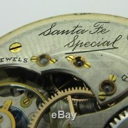 Antique 1923 Illinois Santa Fe Special Grade 806 Model 9 16s 21J 14k GF Pocket W