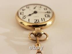 Antique 1925 ELGIN B. W. Raymond 21J Gold GF Railroad Grade 478 Pocket Watch 16s