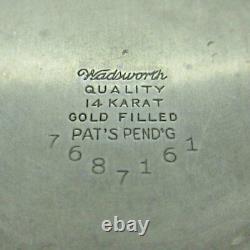 Antique 1928 Illinois Bunn Special 60 Hour Model 14 16s 21J 14k White Gold Fille