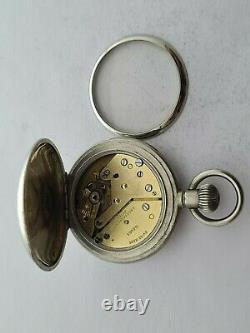 Antique 1929 A. Rosskopf Full Hunter Small Pocket Watch VGC Working Rare