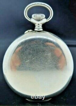 Antique 19.65 Longines WW2 Military Wind Alarm Pocket Watch High Grade Runs