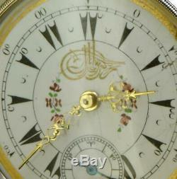 Antique 19th C. Silver Dent, London pocket watch for Ottoman Market. Tughra dial