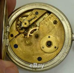 Antique 19th C. Silver hunter pocket watch for Ottoman Market c1870s. Tughra dial