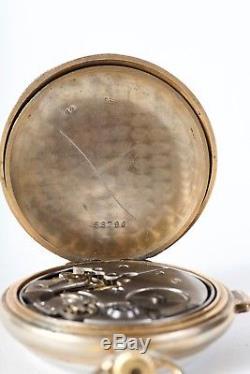 Antique 1/4 Hour Repeater Swiss Men's Pocket Open Face Watch Dea