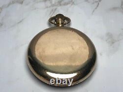 Antique 7 World Records 9k Solid Gold Rolex Pocket Watch