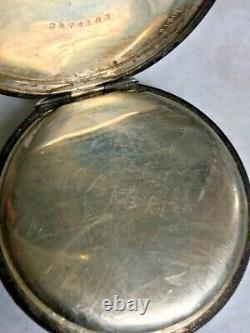 Antique 925 Sterling Silver Hc''standard U. S. A.'' Pocket Watch. Case By Illinois