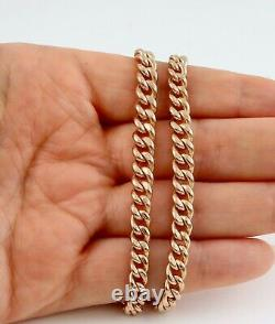 Antique 9Ct Rose Gold Graduated Double Albert Watch Chain / Necklace 44.4grams