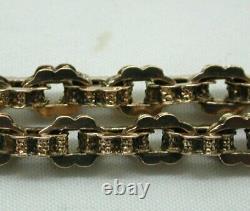Antique 9 carat Rose Gold Fancy Link Albert Watch Chain / Bracelet