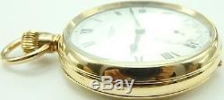 Antique 9ct gold 15 jewel pocket watch. J W Benson London In Good Working Order
