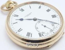 Antique 9ct gold Swiss pocket watch J. W. Benson. London In good working order