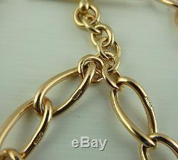Antique 9ct rose gold albert 14.5 inch pocket watch guard chain Weighs 49.2 gms