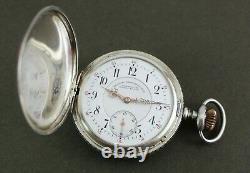 Antique A. LANGE & SOHNE Glashutte 37788 Silver 52mm Pocket Watch