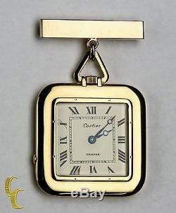 Antique Cartier Gold Square Pocket Watch, 29 Jewels Repeater with Original Pouch