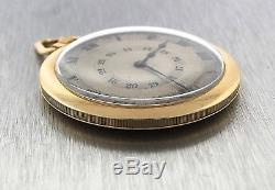 Antique Cartier Solid 18K Gold Open Face Pocket Double Chapter Ring Watch with FOB